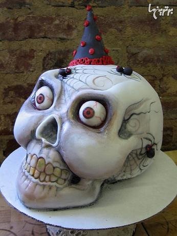 کیک جمجمه عنکبوتی