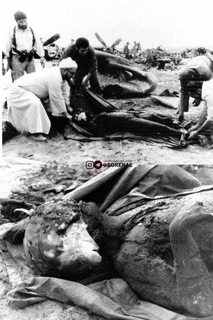 جمعآوری اجساد متجاوزان آمریکایی در جریان حمله ناکام آمریکا به ایران ۱۳۵۹