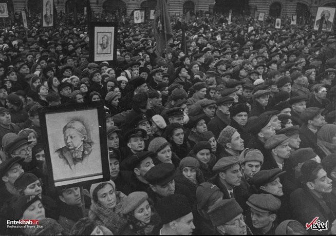 مراسم تدفین همسر لنین بنیانگذار شوروی