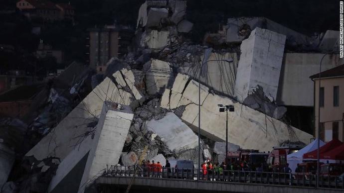عملیات نجات، 4 روز پس از ریزش پل هوایی در ایتالیا