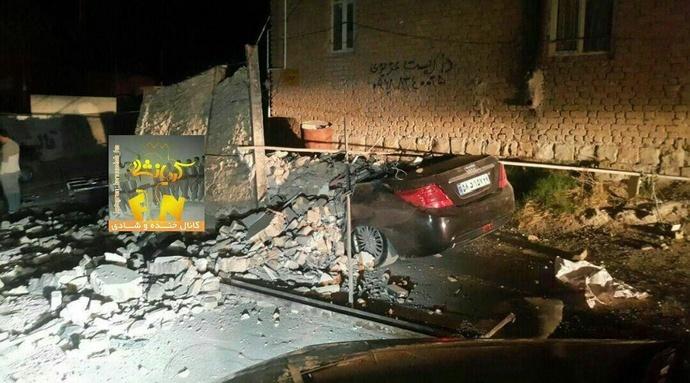خسارت زلزله در تازه آباد کرمانشاه