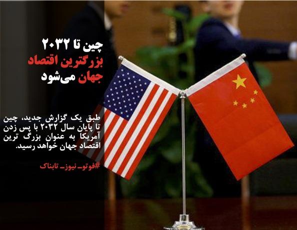 طبق یک گزارش جدید، چین تا پایان سال ۲۰۳۲ با پس زدن آمریکا به عنوان بزرگ ترین اقتصاد جهان خواهد رسید.