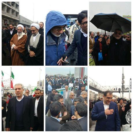 شماری از مسئولان در راهپیمایی ۲۲ بهمن