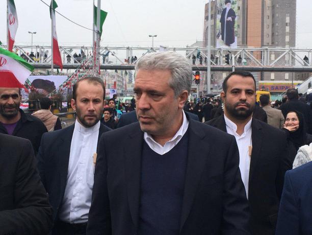 مونسان، رئیس سازمان میراث فرهنگی در راهپیمایی ٢٢ بهمن