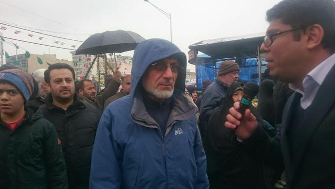 میرسلیم، عضو مجمع تشخیص مصلحت نظام در راهپیمایی ٢٢ بهمن