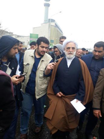محسنی اژه ای در راهپیمایی ٢٢ بهمن