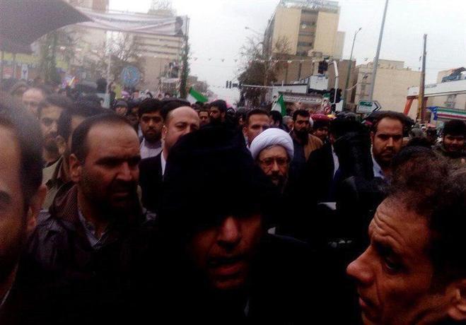 رئیس قوه قضایی در راهپیمایی ٢٢ بهمن