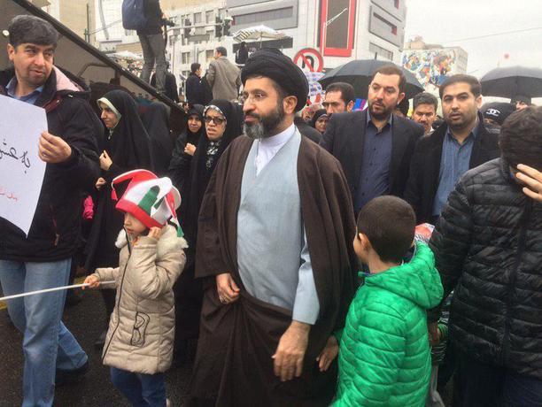 فرزند رهبر انقلاب در راهپیمایی ۲۲ بهمن
