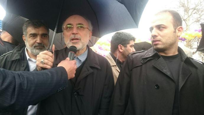 علی اکبر صالحی در راهپیمایی ۲۲ بهمن