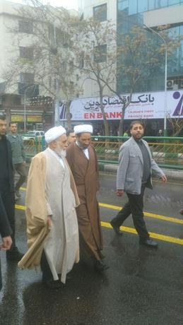 ناطق نوری در راهپیمایی ۲۲ بهمن