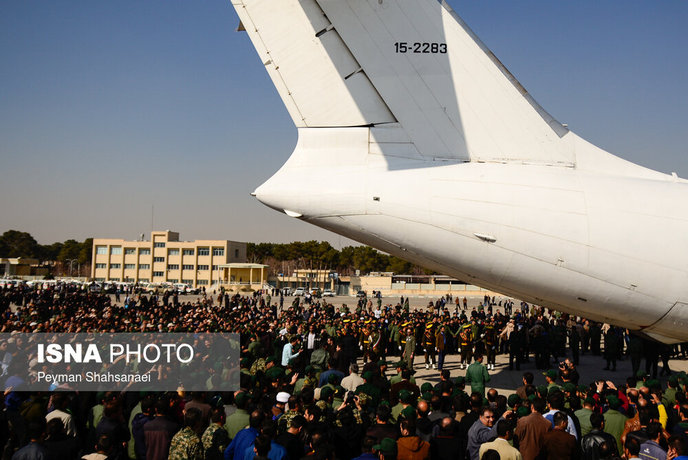 ورود پیکر شهدای حادثه تروریستی به اصفهان