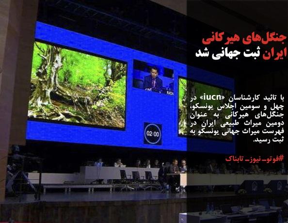 با تائید کارشناسان «iucn» در چهل و سومین اجلاس یونسکو، جنگلهای هیرکانی به عنوان دومین میراث طبیعی ایران در فهرست میراث جهانی یونسکو به ثبت رسید.