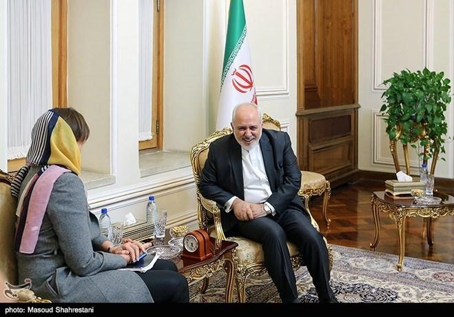 قائم مقام وزیرخارجه سوئد در دیدار با محمد جواد ظریف وزیر امور خارجه ایران