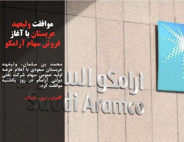 محمد بن سلمان، ولیعهد عربستان سعودی با اعلام عرضه اولیه عمومی سهام شرکت نفتی دولتی آرامکو در روز یکشنبه موافقت کرد.