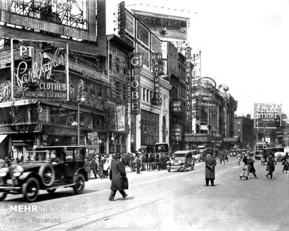 صحنه ای خیابانی از نیویورک، امریکا
