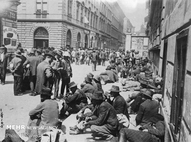 مردان بیکار در خیابان های وین، اتریش