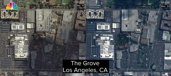 این دو تصویر مراکز خریدی نشان میدهد که تعطیل شدهاند